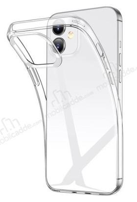 Vinn Mood Apple iPhone 12 Kılıf Antishock Silikon Kamera Şeffaf Airbag Arka Kapak