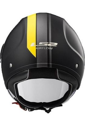 Ls2 Airflow Metropolis Mat Siyah-Sarı Kask
