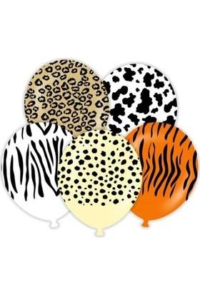 Balon Evi Safari Temalı Karışık Balon 10 Adet