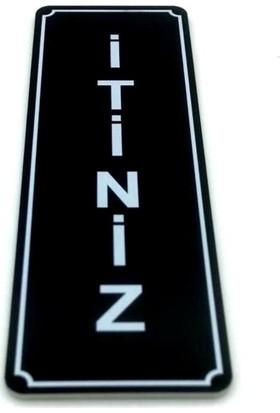 Itiniz Kapı Yönlendirme Levhası 5 cm x 15 cm Siyah Tabela
