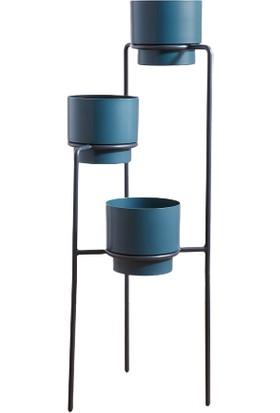 Abronya Metal Saksı Standı 3 Katlı Çiçeklik Stand Saksı Modelleri