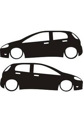 Fiat Punto Sticker Beyaz