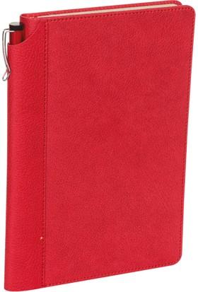Hediyemgelsin Şile Tarihsiz Ajanda 15,5 x 23,5 cm Kırmızı