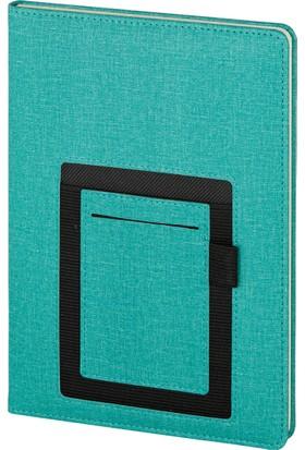 Hediyemgelsin Kalamış Defter Ajanda 15 x 21 cm Turkuaz Mavi