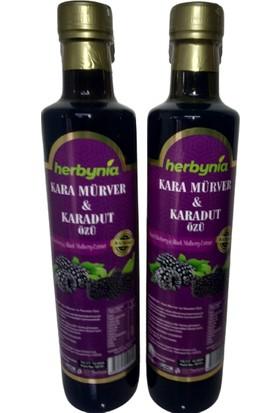 Herbynia Kara Mürver ve Karadut Özü 2 'li 680 gr Katkısız ve Glikoz Içermez