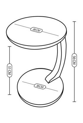 Bbs C Servis Sehpası Beyaz Mermer Desenli