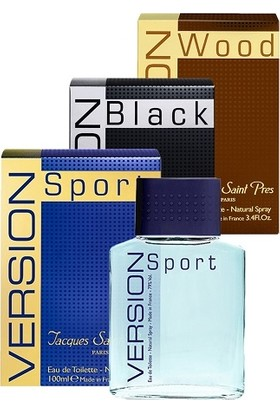 JSP Version Black, Version Wood, Version Sport Koleksiyon Seti (3X100ML EDT ) Erkek Parfüm