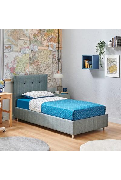 Yataş Bedding Nova Sandıklı Yatak Baza Başlık Genç Seti - Multi Yatak - (Tek Kişilik 100X200 cm - Turkuaz)