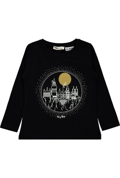 Harry Potter Kız Çocuk Sweatshirt 2-5 Yaş Siyah
