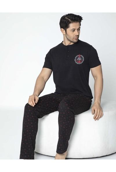 Aydoğan Erkek Süprem Kısa Kollu Pijama Takımı Mevsimlik