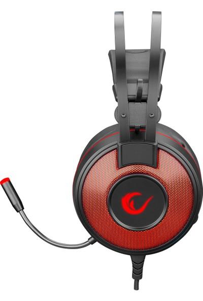 Rampage SN-RW66 Alpha-X USB 7.1 Surround Oyuncu Mikrofonlu Kulaklık Kırmızı