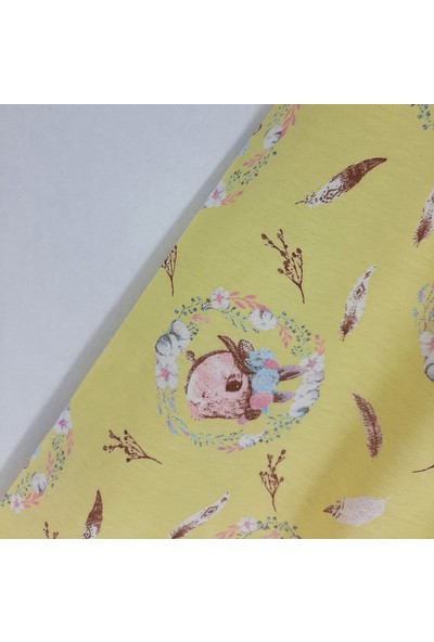 Vitmo Baby Kız Çocuk Pijama Takımı Kaprili Sarı Princess Tavşan