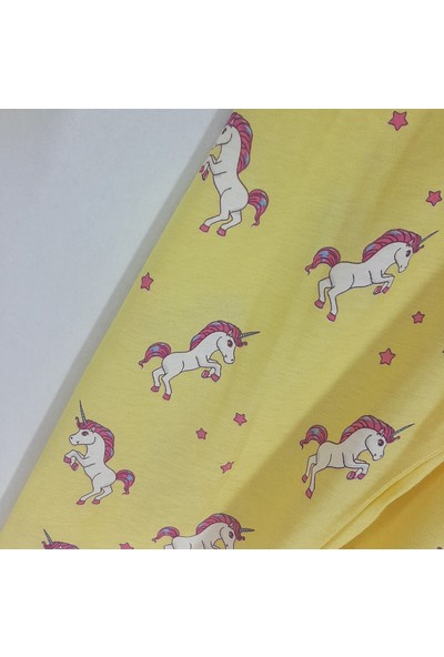 Vitmo Baby Kız Çocuk Pijama Takımı Sarı Unicorn