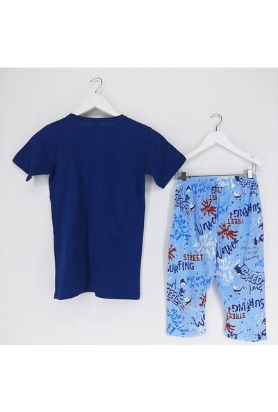 Vitmo Baby Erkek Çocuk Pijama Takımı Kaprili Lacivert California