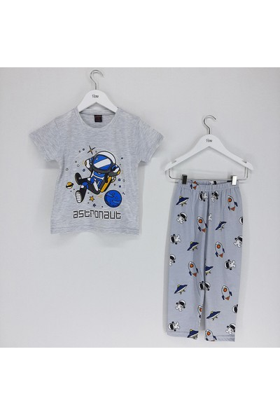Vitmo Baby Erkek Çocuk Pijama Takımı Gri Astronot