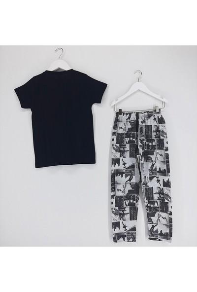 Vitmo Baby Erkek Çocuk Pijama Takımı Siyah New York