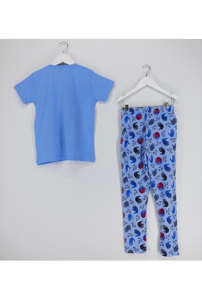 Vitmo Baby Erkek Çocuk Pijama Takımı Mavi Surfing Time Hawaii