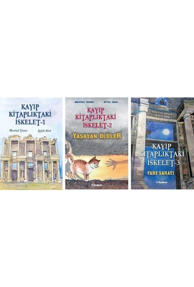 Kayıp Kitaplıktaki Iskelet 3 Kitap Set - Mavisel Yener - Yaşayan Ölüler - Fare Sarayı