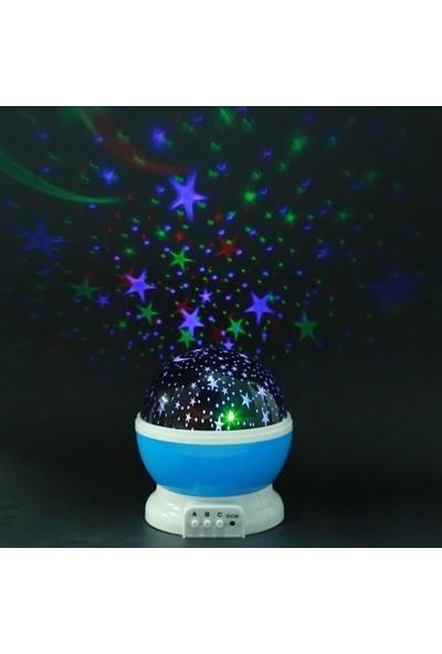 Pazariz Star Master Dönen Yıldızlı Gökyüzü Projeksiyon Gece Lambası Mavi