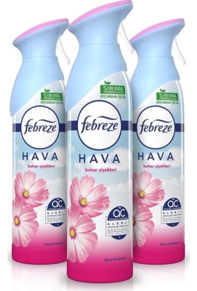 Febreze Hava Ferahlatıcı Sprey Oda Kokusu Bahar Çiçekleri 3'lü Paket x 300 ml