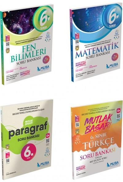 Muba Yayınları 6. Sınıf Matematik, Fen Bilimleri, Mutlak Başarı Türkçe ve Paragraf Soru Bankası Seti