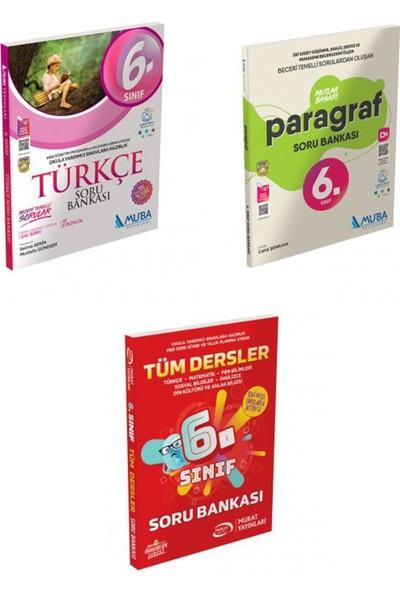 Muba Yayınları 6. Sınıf Türkçe, Paragraf Mutlak Başarı ve Tüm Dersler Soru Bankası Seti