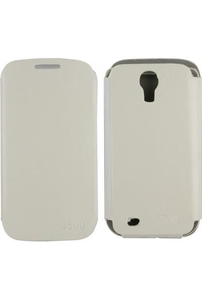 ChTech Samsung Galaxy I9500 S4 Için Chtech Kapaklı Kılıf Kapaklı Kılıf Beyaz