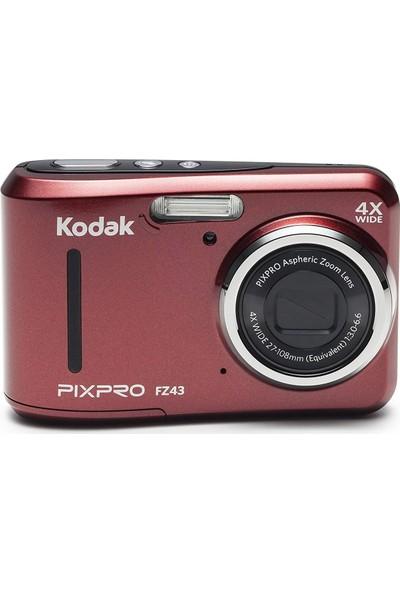 Kodak Friendly Zoom FZ43/3X Yakınlaştırma Dijital Fotoğraf Makinesi-Kırmızı
