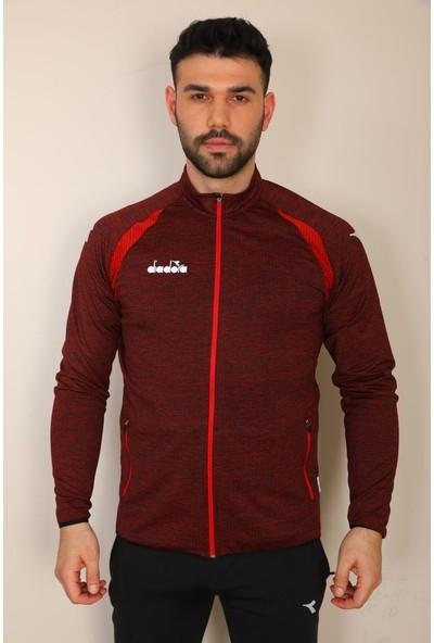 Diadora Muline Kırmızı Tek Üst Sweatshirt - Muline Kırmızı