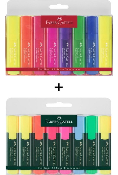Faber-Castell 16 Renk Fosforlu Kalem Seti