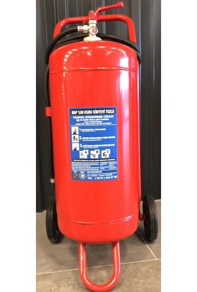 Selçuklu Plus Yangın Söndürme Cihazı Arabalı 50 kg