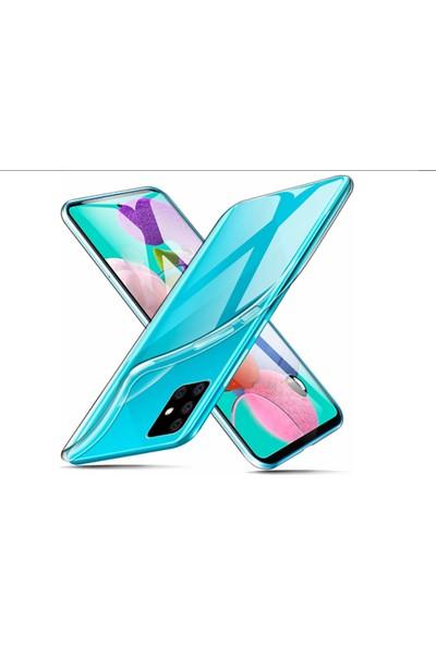 Vinn Mood Samsung Galaxy A51 Kılıf Antishock Silikon Köşeli Şeffaf Airbag Arka Kapak