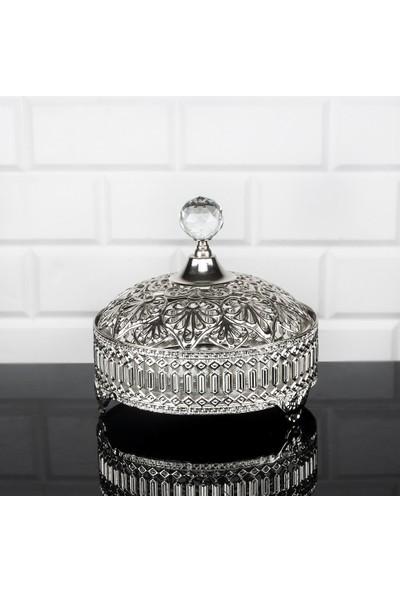 Zeyve Inci Gümüş 16 cm Aynalı Şekerlik