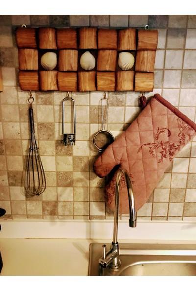 Home Berry Mutfak Masif Deniz Kabuğu Dekoratif Askılık