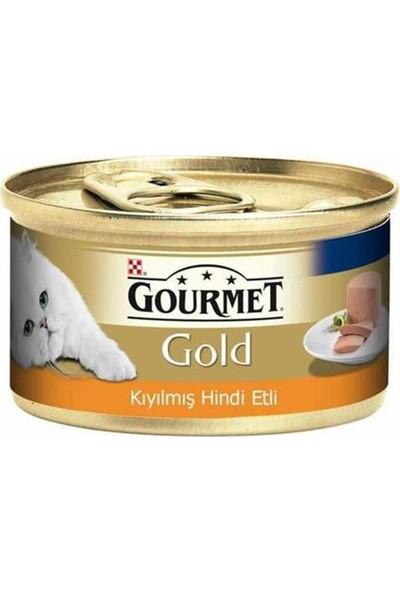 Gourmet Gold Kıyılmış Hindi Etli Kedi Konservesi 85 gr 12'li Set