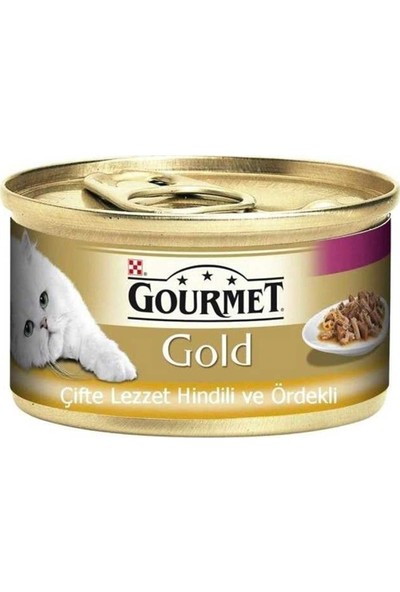 Gourmet Gold Hindili Ördekli Kedi Konservesi 85 gr 12'li Set