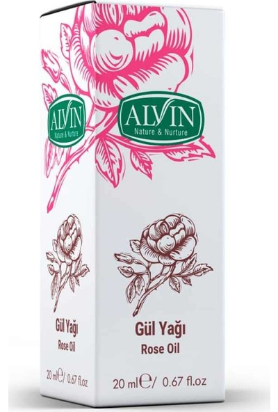 Alvin Gül Yağı 20ml