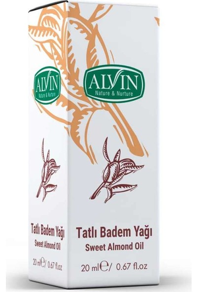 Alvin Tatlı Badem Yağı 20ml