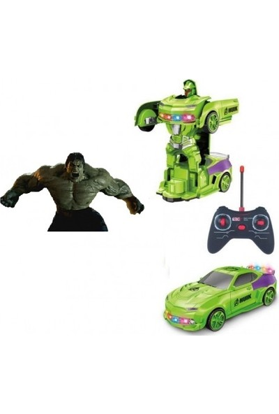 Lrs Store Avangers Hulk - Kaptan Amerika Uzaktan Kumandalı Robot Olan Araba Şarjlı 24CM