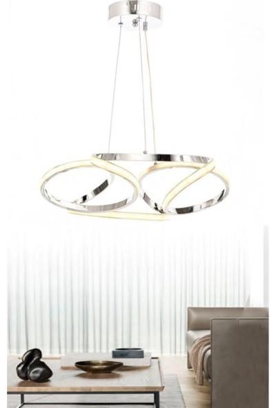 Burenze Luxury Modern Sarkıt Power LED Avize Krom BURENZE823