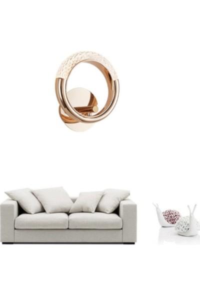 Burenze Elegance Luxury Tasarım Modern Duvar LED Aplik Gold Sarı BURENZE820