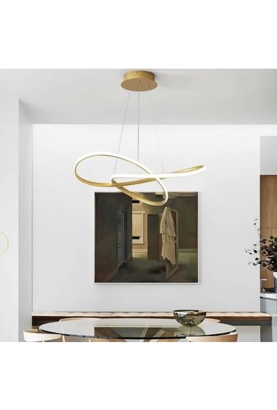 Burenze A+ Luxury Modern Sarkıt Power LED Avize Concept Ürün Gold Sarı Kademeli 3 Renk BURENZE790