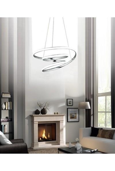 Burenze Luxury Modern Sarkıt LED Avize Krom BURENZE615
