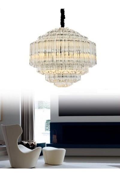 Burenze A++ Luxury Modern Sarkıt Kristal Avize Krom BURENZE577