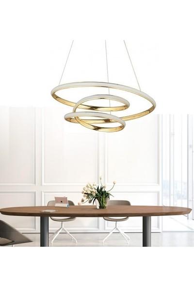 Burenze Modern Sarkıt LED Avize Gold Sarı BURENZE614