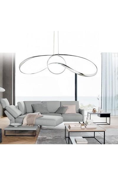 Burenze Luxury Postmodern Sarkıt LED Avize Krom BURENZE609