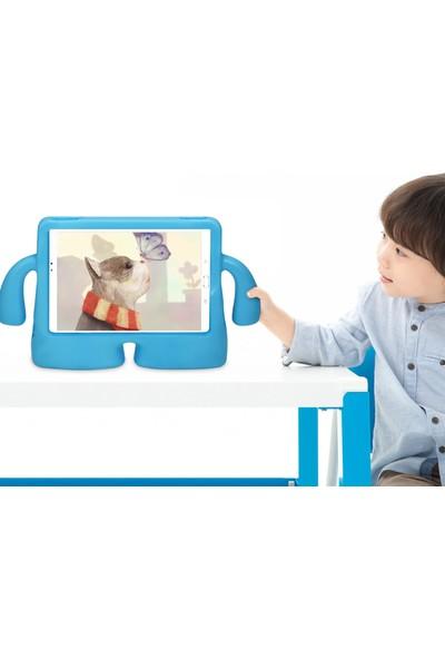 "Hypercep Samsung Galaxy Tab A7 T500 T505 10.4"" 2020 Uyumlu Standlı Tutacaklı Yumuşak Silikon Tablet Kılıfı Turuncu"
