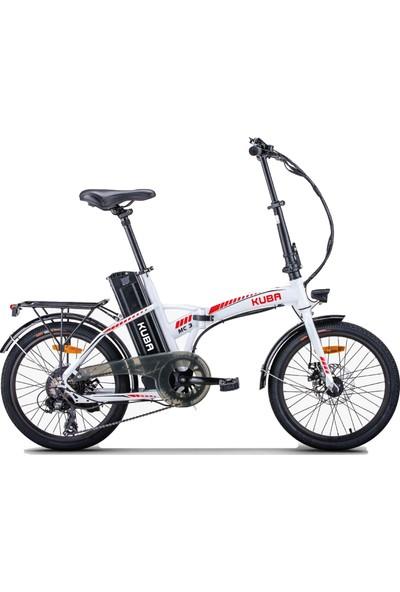 Kuba MC3 Katlanabilir Elektrikli Şarjlı Lityum Bataryalı Akülü Bisiklet Siyah Beyaz Turuncu