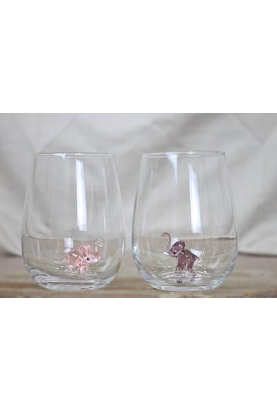 Adamodart Fil Figürlü Su Bardağı 6'lı Takım