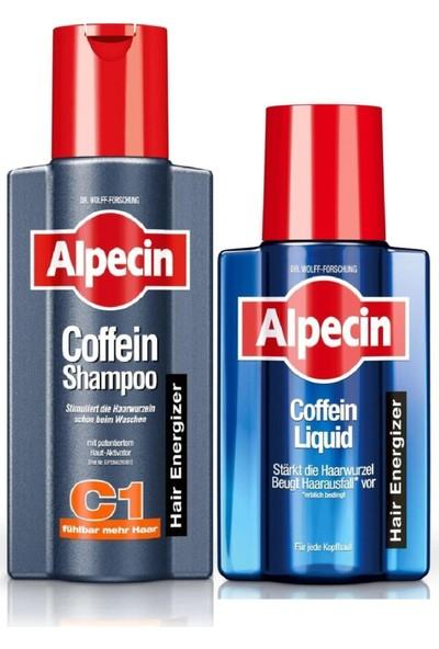 Coffein Kafein Şampuan C1 250 ml + Likit 200 ml Set